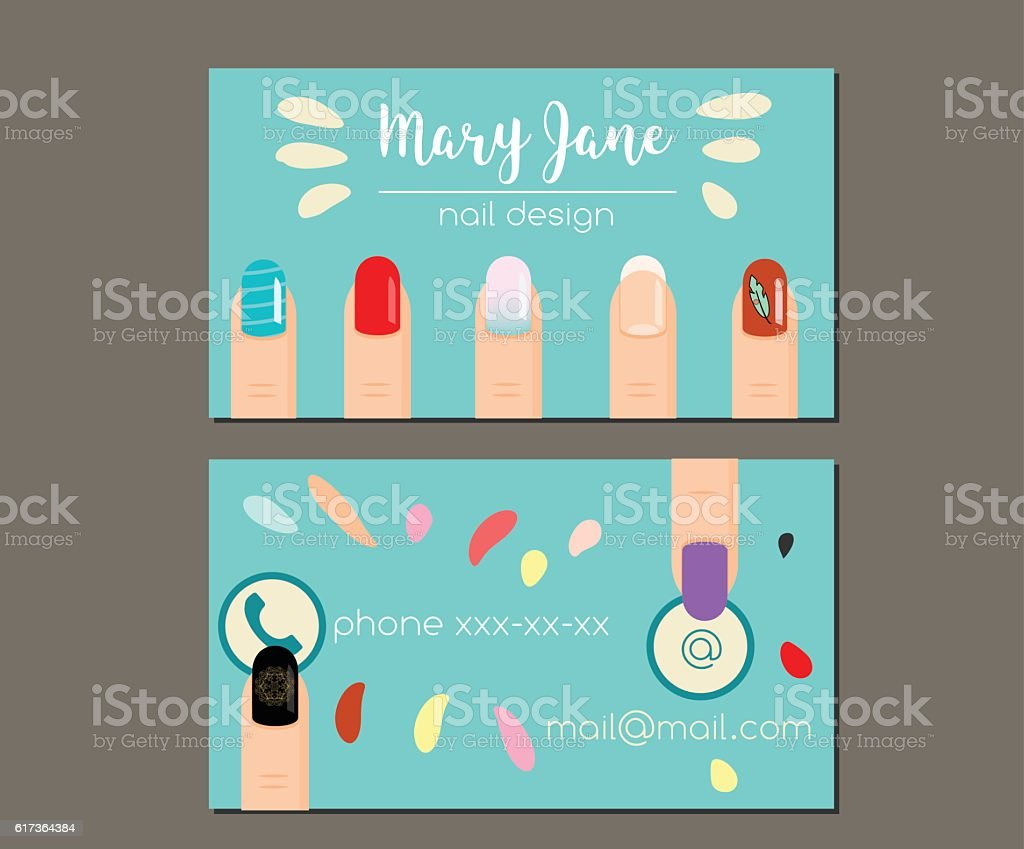 Business card design template manicure salon nail studio nail artist business card design template manicure salon nail studio nail artist royalty free reheart Choice Image