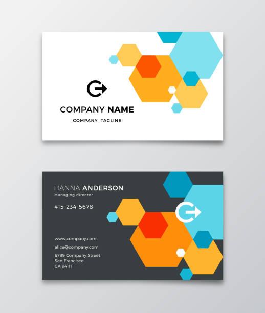 Business Card Design Template Modern business card design template. business cards templates stock illustrations