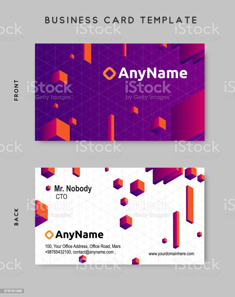 Business card design template vector art illustration