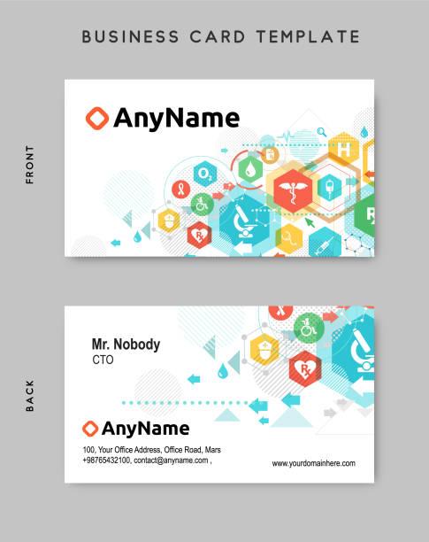 Royalty free doctor business card clip art vector images business card design template vector art illustration colourmoves