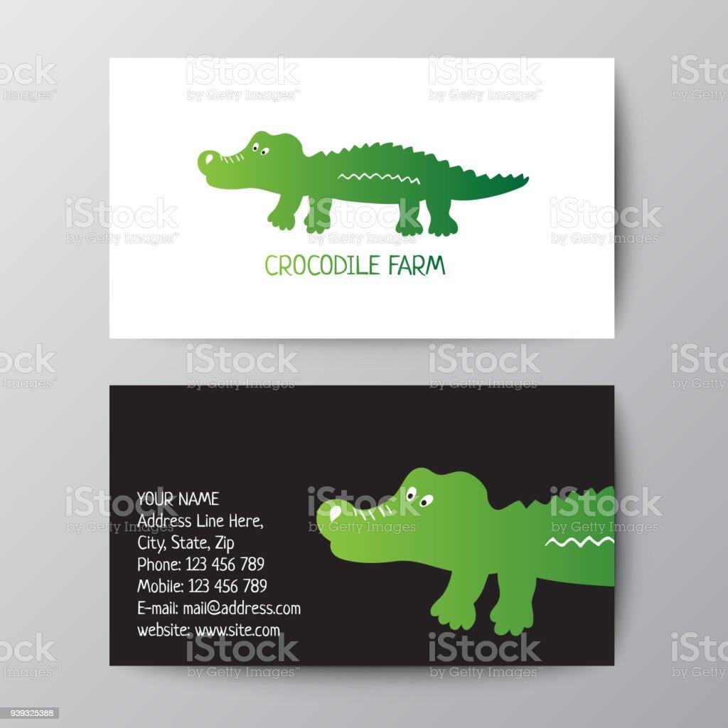 Modele De Conception Carte Visite Avec Crocodile
