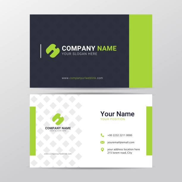 Business card design template with modern and clean style Business card design template with modern and clean style business cards templates stock illustrations