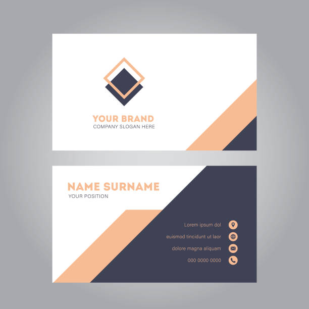 business card design - business cards templates stock illustrations