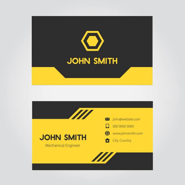 비즈니스 카드 디자인 - 명함 stock illustrations