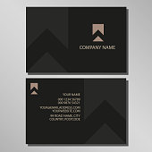 Black and Gold Business Card Design and logo for a company to adapt to their needs. Background colour set to 3mm bleed on standard business card size
