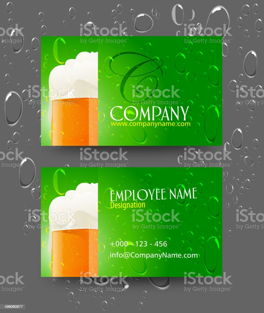 Business Card Design royalty-free stock vector art