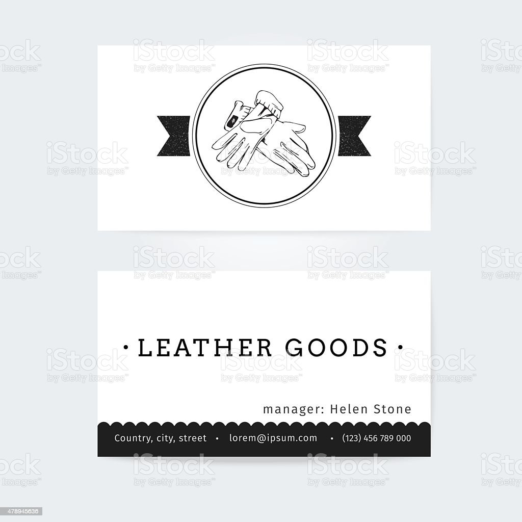 Business Card Design Vector Template Of Haberdashery Womens ...