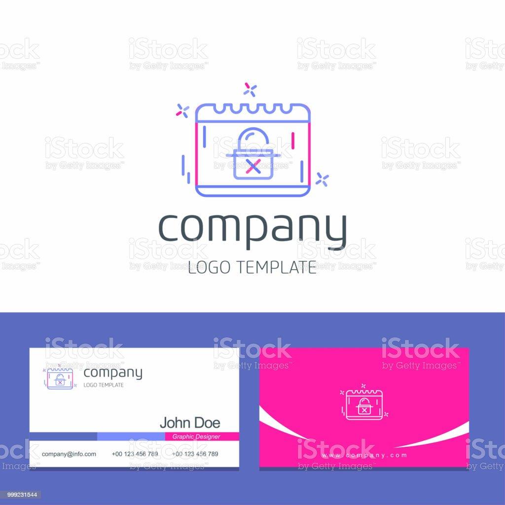 Visitenkartendesign Mit Cyber Security Icon Design Vektor Stock Vektor Art Und Mehr Bilder Von Design