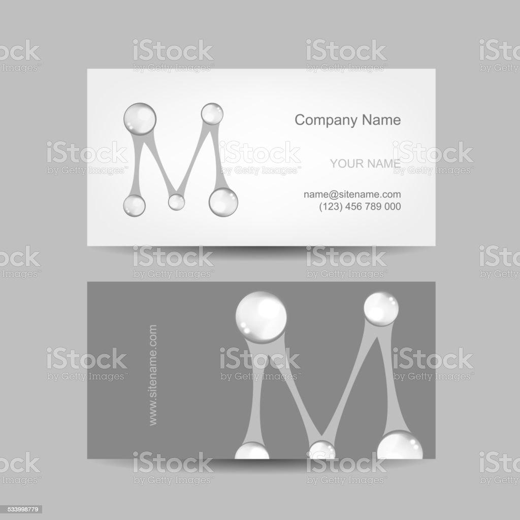 Wizytówka Design Z Litera M Stockowe Grafiki Wektorowe I Więcej