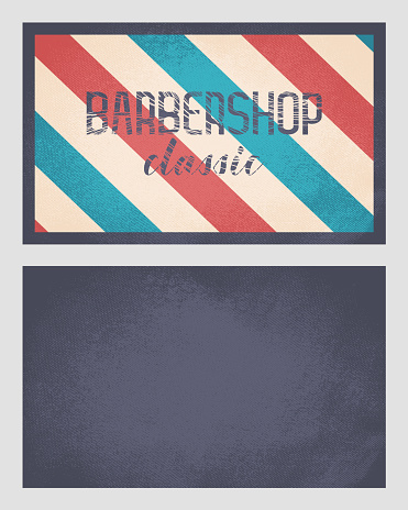 Business card designed for Barbershops, harcut salon, stylists and more.