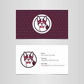 Business card, logo, dog