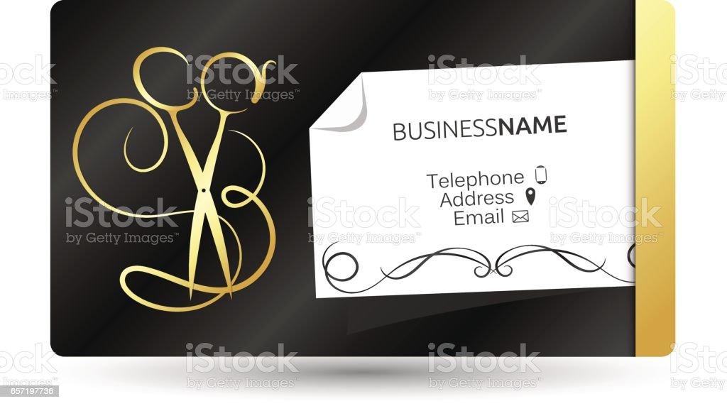 Visitenkarte Für Schönheitssalon Und Friseur Stock Vektor
