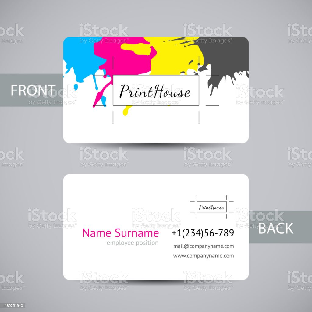Business card for print house with cmyk ink splashes stock vector business card for print house with cmyk ink splashes royalty free stock vector art magicingreecefo Image collections