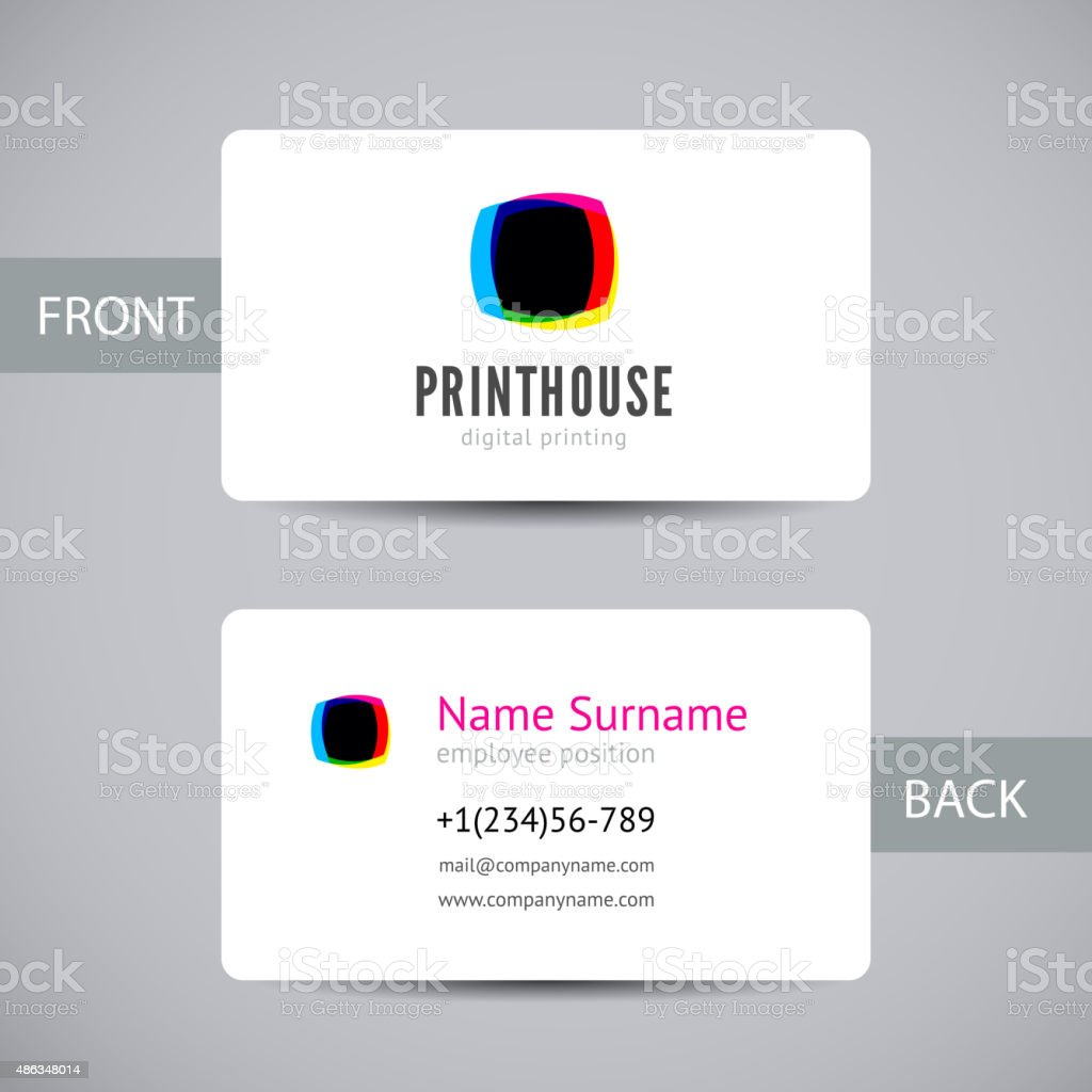 Business card for print house with cmyk ink splashes stock vector business card for print house with cmyk ink splashes royalty free business card for print reheart Gallery