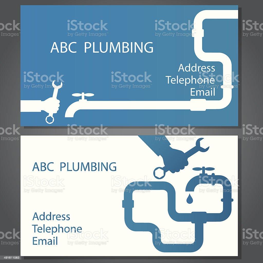 Business card for repair plumbing vector art illustration