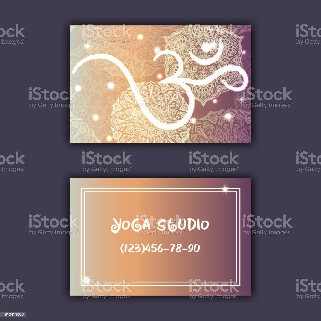 Visitenkarte Für Yogastudio Oder Yogalehrer Ethnischen