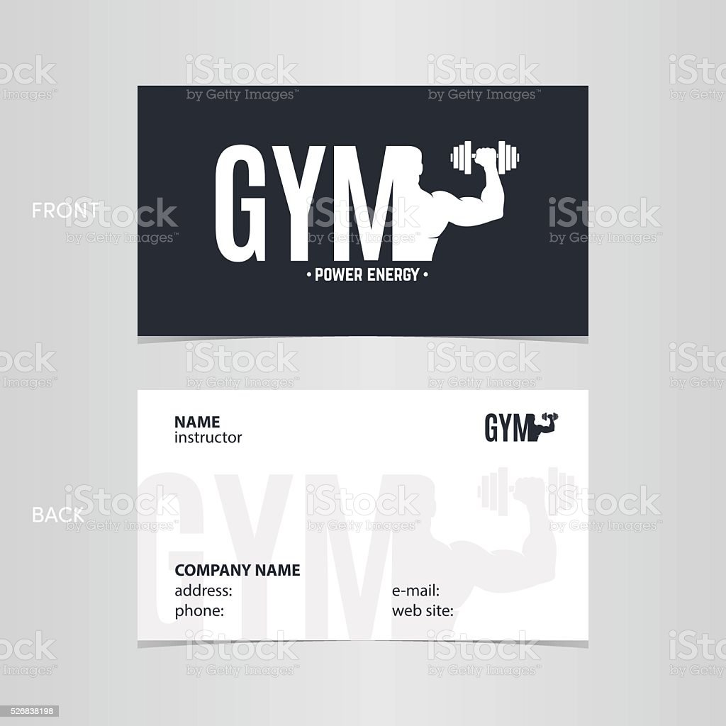 Business Card Gym Stock Vector Art & More Images of Activity ...