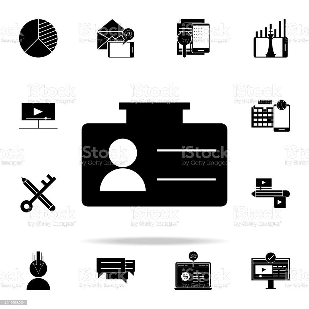 Icone De Carte Visite Icones Marketing Numeriques Universels Definies Pour Web Et Mobile
