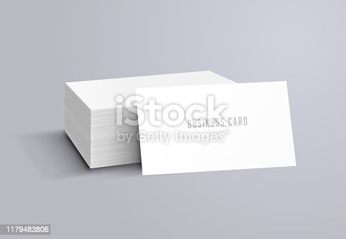 blank business card mockup model object