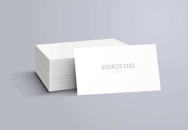 illustrations, cliparts, dessins animés et icônes de maquette de carte de visite - business card mock up