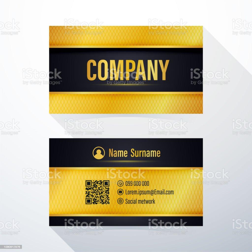 Visitenkarte Modernen Schwarz Und Gold Element Vorlage Für