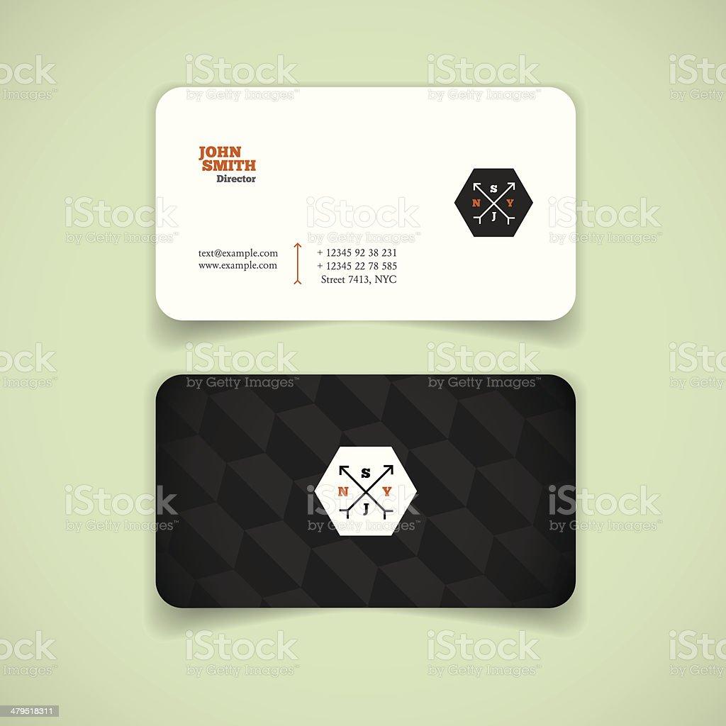 Symbole A La Mode Enregistrer Carte De Visite Moderne Noir Et Blanc Cliparts