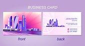 business card night city