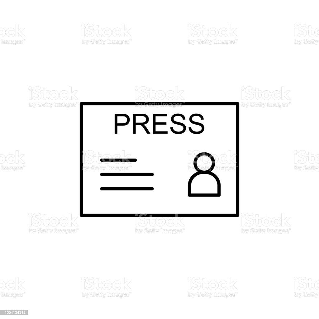 Carte De Visite Dune Icone Journaliste Element Des Medias Et Nouvelles