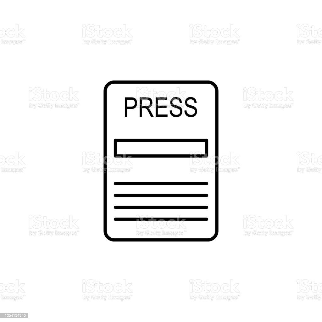 Carte De Visite Dune Icne Journaliste Lment Des Mdias Et Nouvelles