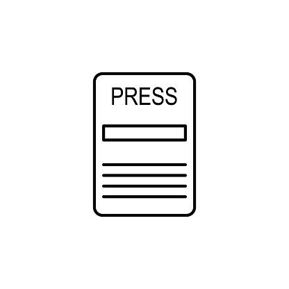 Visitenkarte Eines Symbols Journalist Element Der Medien Und