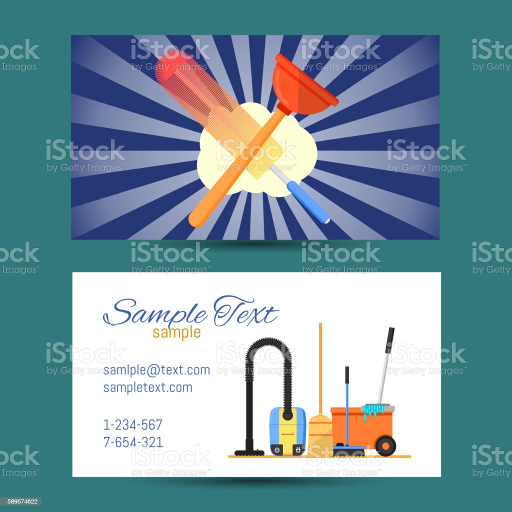 Business Card Of Cleaning Service Stock Vector Art & More Images ...