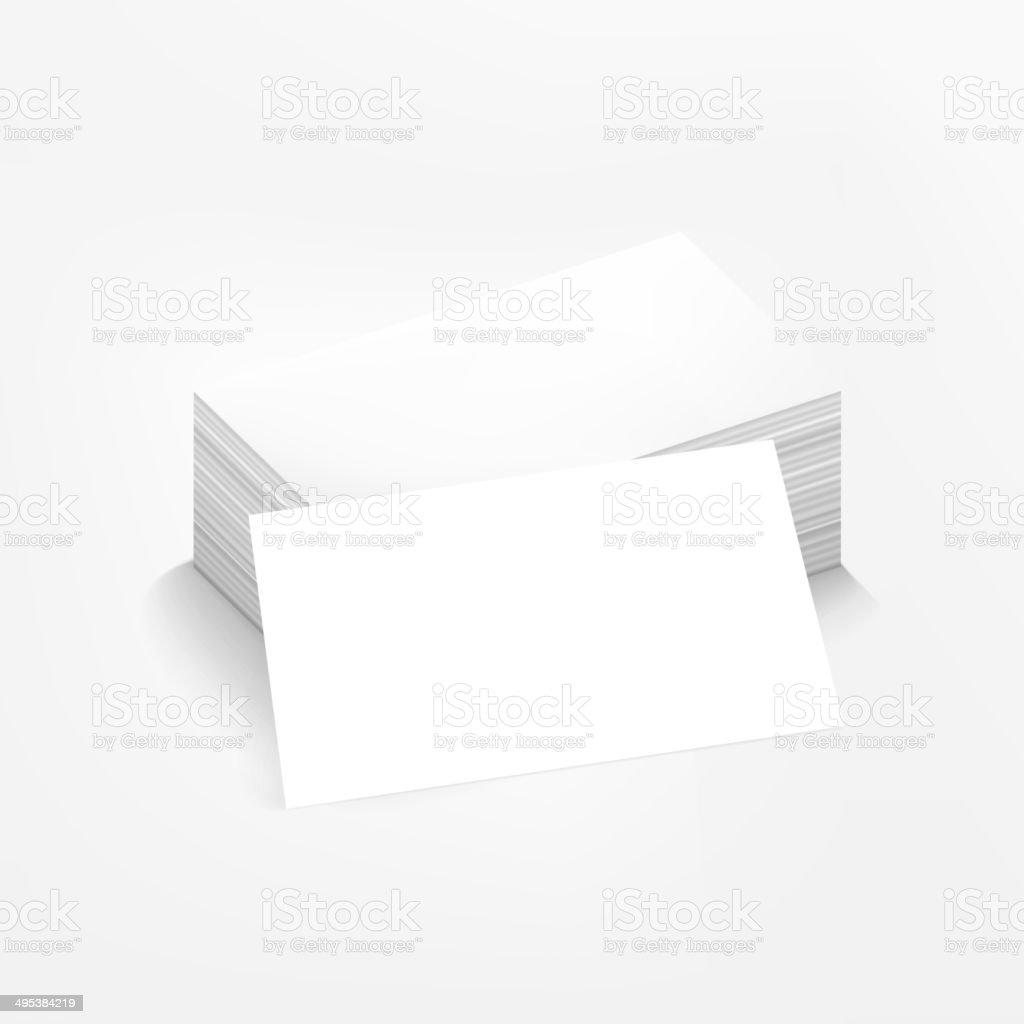 Carte De Visite Sur Fond Blanc Cliparts Vectoriels Et