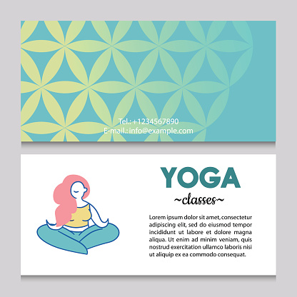 Business card or flyer template for yoga studio.