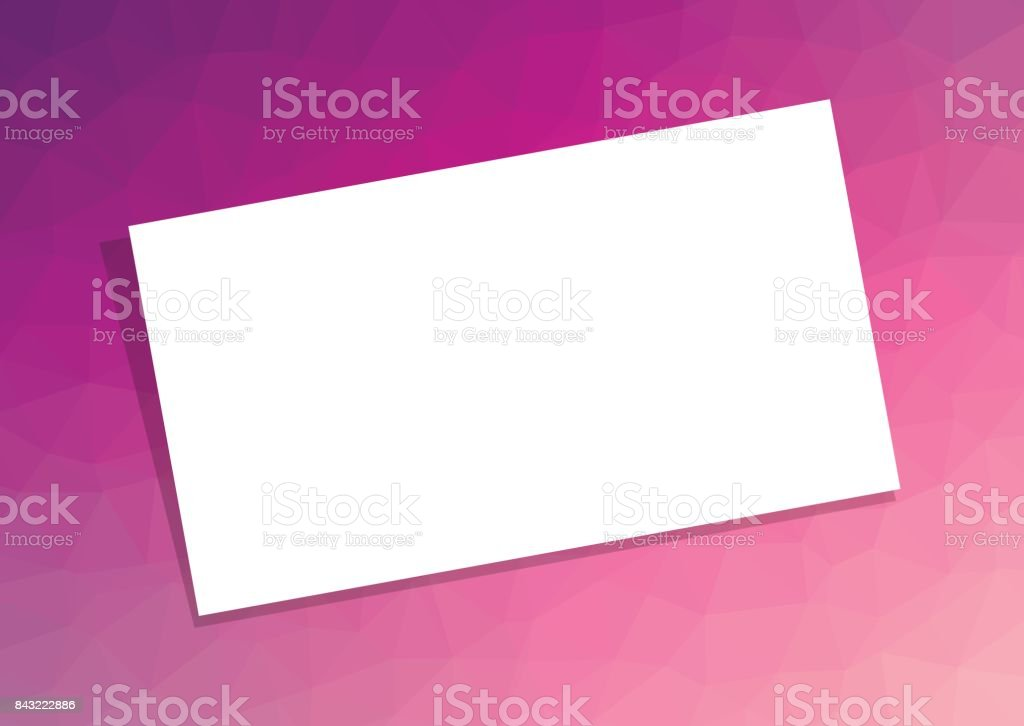 Business Card Or Visiting Template On Pink