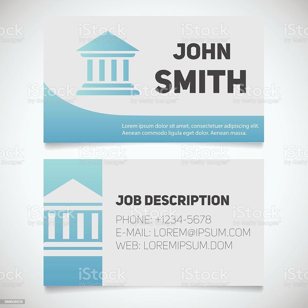 ilustración de impresión de la plantilla de tarjeta de presentación