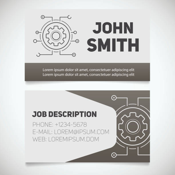 Royalty free engineer business card clip art vector images business card print template vector art illustration colourmoves