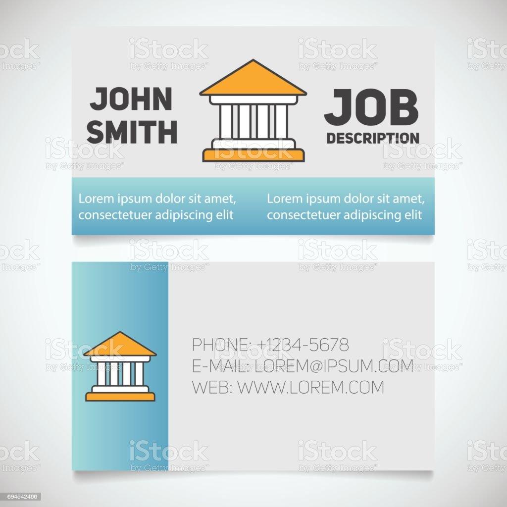 business card print template stock vector art 694542466 istock