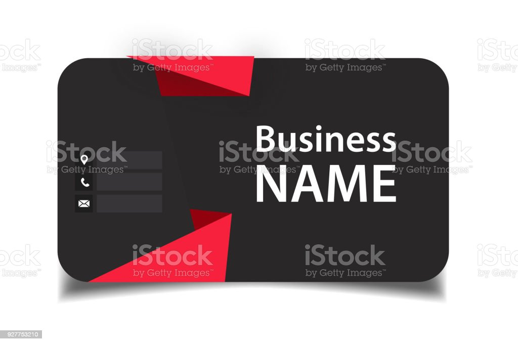 Business card red origami black background vector image stock vector business card red origami black background vector image royalty free business card red origami black reheart Images