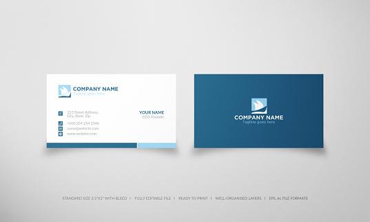Business card sailboat logo design template
