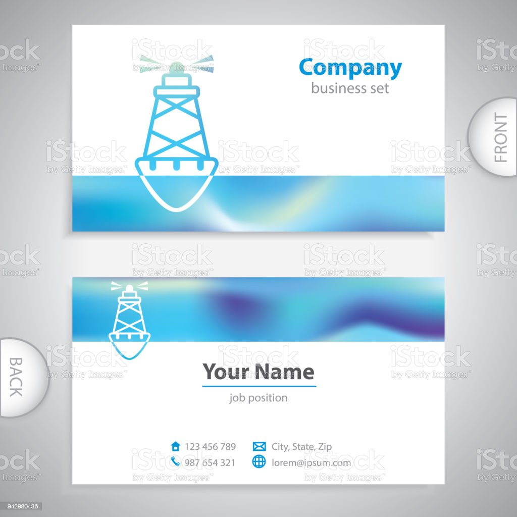 Business card sea buoys marine buoy maritime symbols stock vector business card sea buoys marine buoy maritime symbols royalty free business card colourmoves