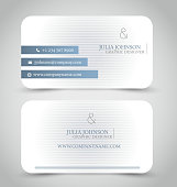Business card set template.  Vector illustration.