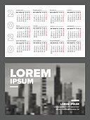 istock Business card size 2020 calendar template 1181426675