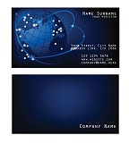 Business card space with Earth