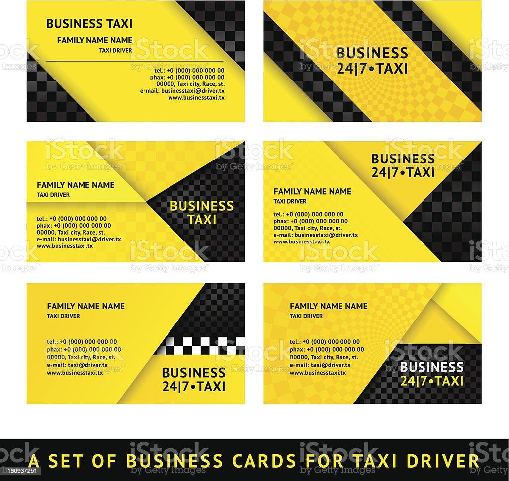 Carte De Visite Taxi Neuvime Srie Stock Vecteur Libres Droits Libre