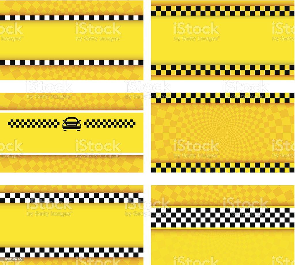 Business card taxi set vector art illustration