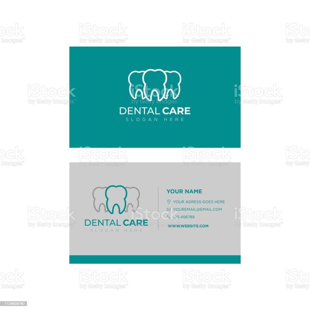 Visitenkarten Vorlagedesign Dental Designvorlage Kreative