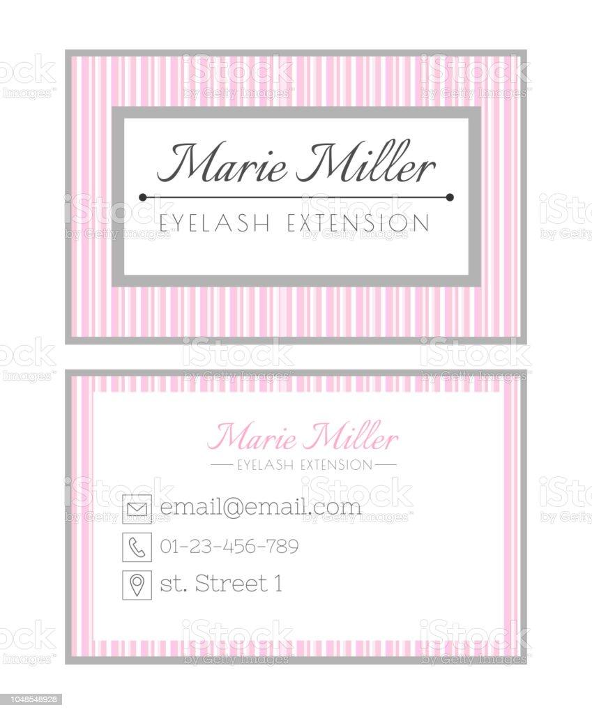 Visitenkarten Vorlagedesign Für Beautysalon Dienstleistungen