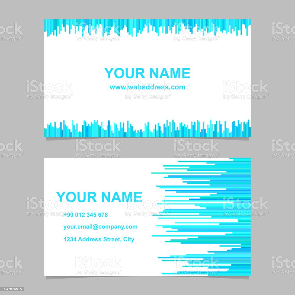 Business card template design set vector name card graphic with business card template design set vector name card graphic with rounded stripes on white background fbccfo Image collections