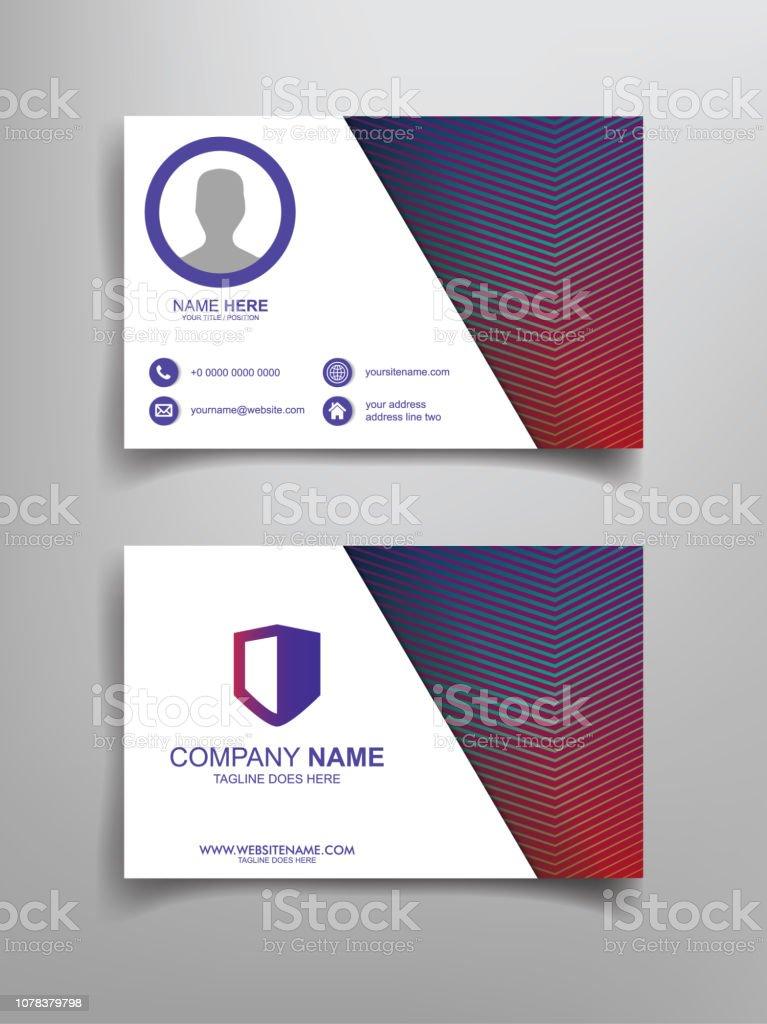 Visitenkarten Vorlagedesign Stock Vektor Art Und Mehr Bilder