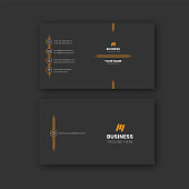 Black simple modern clean visiting card business card personal identity card design template vector